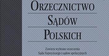 Okładka Orzecznictwo Sądów Polskich