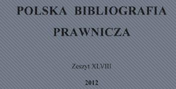 Okładka Polska Bibliografia Prawnicza